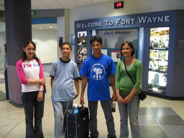 Afghan exchange students arrive in Indiana. Holland has commented on the importance of programs like this. Via Afghan Connections